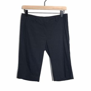 Theory Bermuda Walking Shorts Size 2 Black Linen